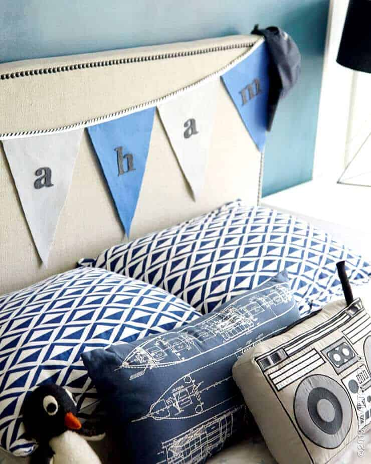 vintage boys bedroom