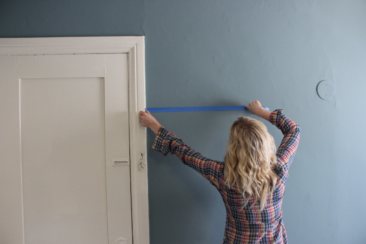 taping off walls for painting