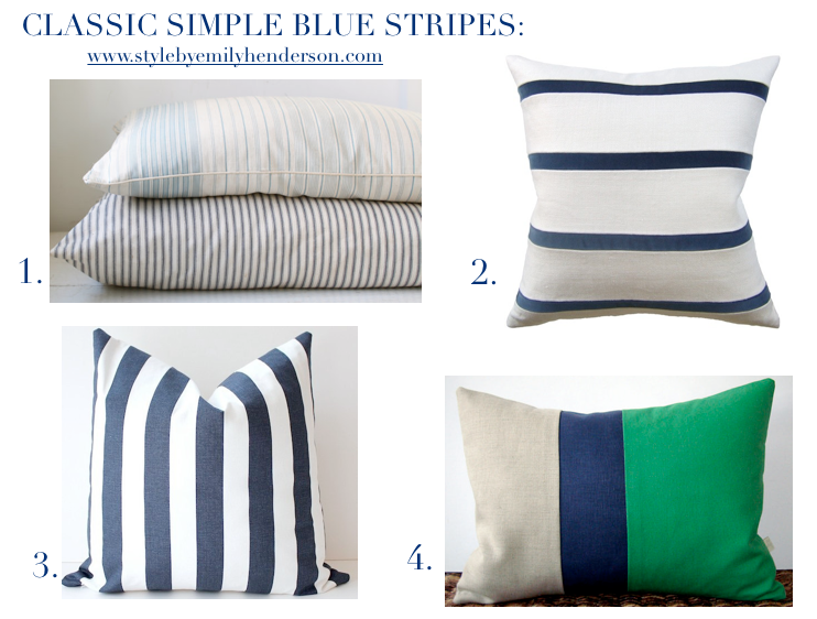 Best striped pillows from Etsy. | Emily Henderson