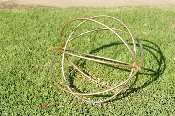 gold hula hoop light fixture