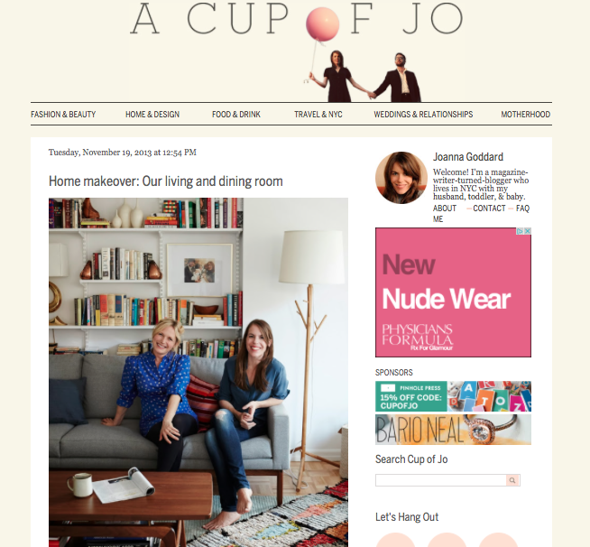 A Cup of Jo - house makeover