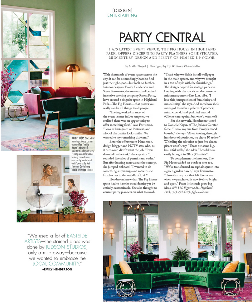 Angeleno magazine feature - Fig House