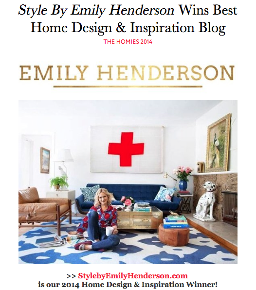 Apartment Therapy Homies - Emily wins Best Home Design & Inspiration Blog