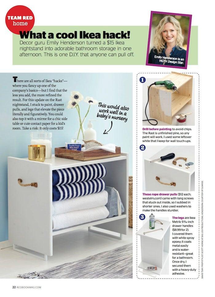 Redbook magazine - Side Table IKEA hack