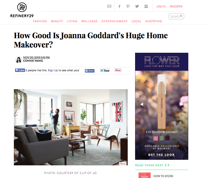 Refinery 29 - Joanna Goddard Home Makeover