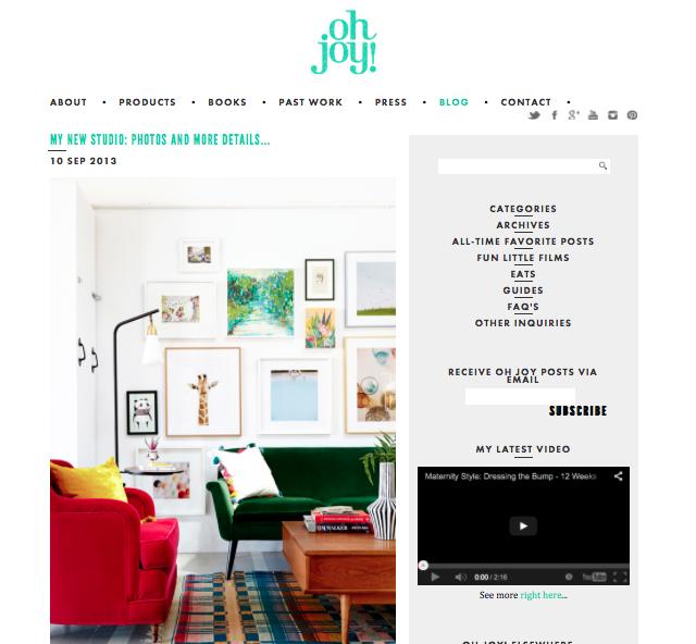 Oh Joy blog - New studio