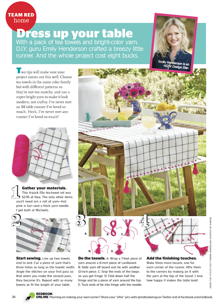 Redbook Magazine - DIY Table Runner