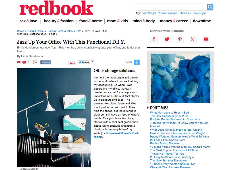 Redbook magazine - DIY office solution