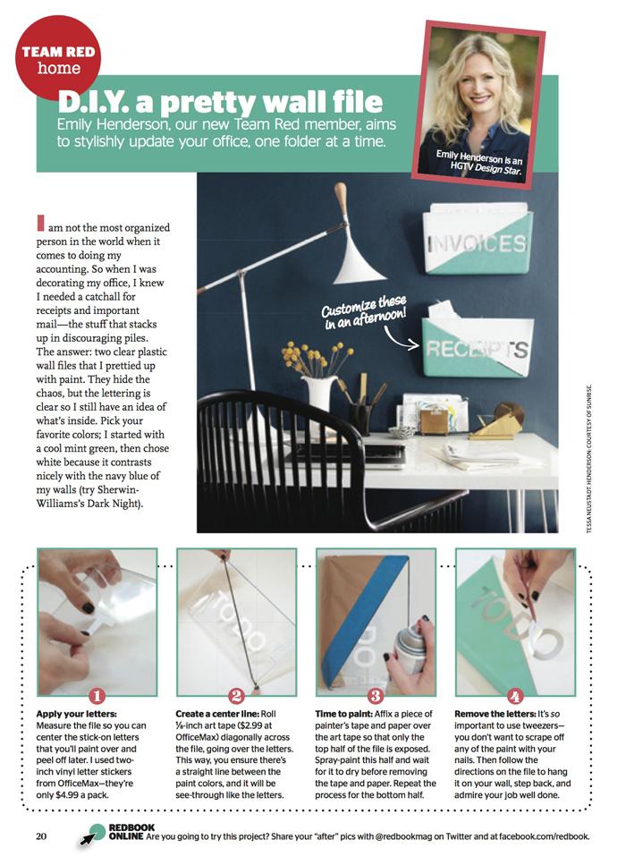 Redbook Magazine - DIY Wall Pocket Organizers