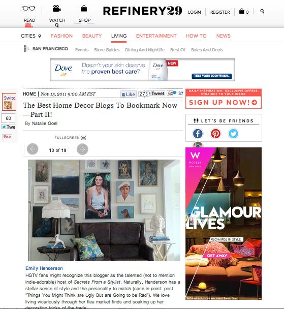 Refinery 29, 'Best Design Blogs To Watch'