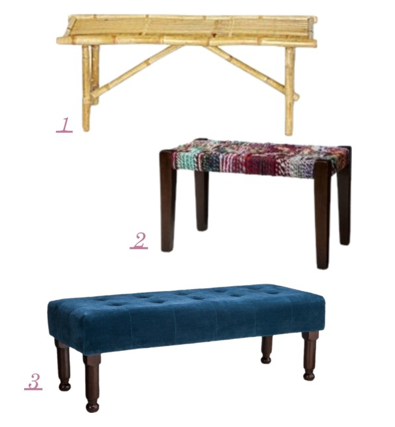 Benches; from inexpensive to well, expensive | Emily Henderson