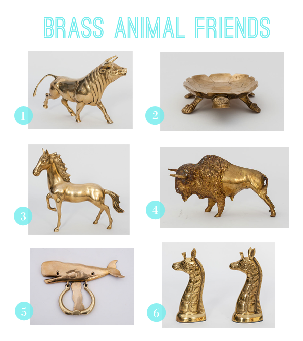 vintage brass zoo