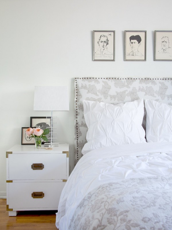 pretty gray bedroom