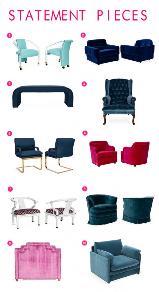 upholstered vintage furniture
