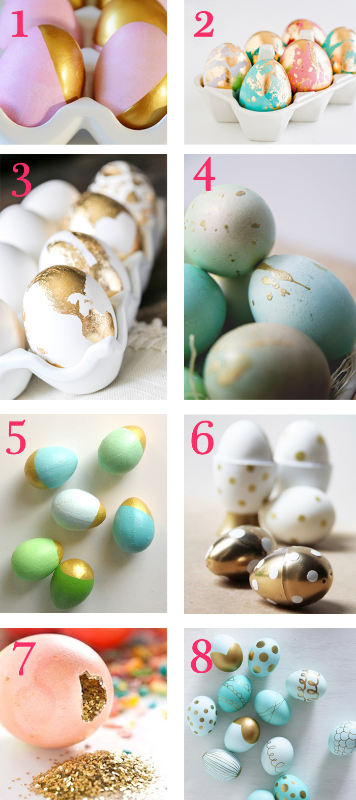 gold easter eggs