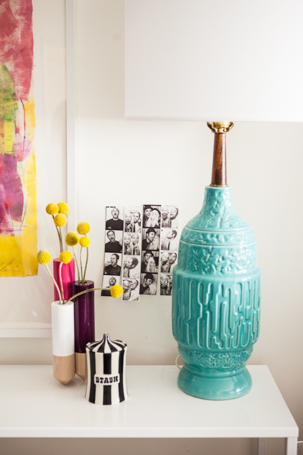 turquoise, aqua vintage lamp
