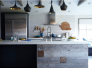 modern-rustic-kitchen-tom-dixon-lights