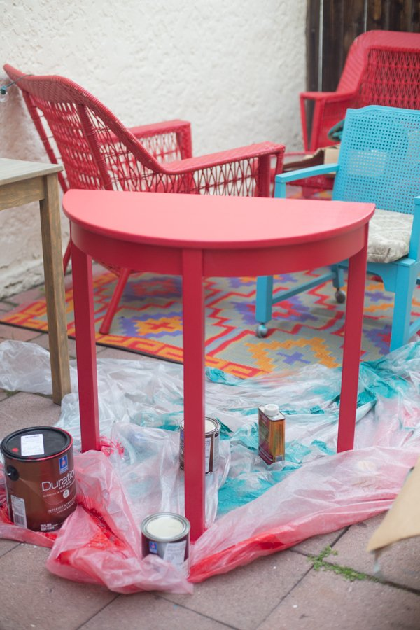 Red Side Table-10