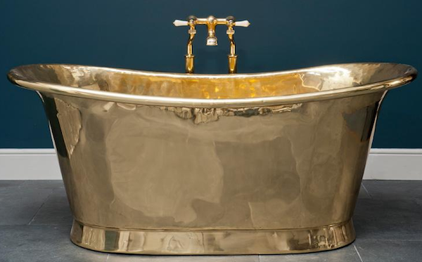 modern brass bathtub