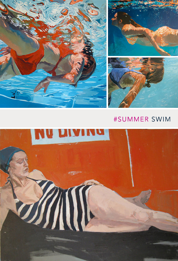 swimming artwork