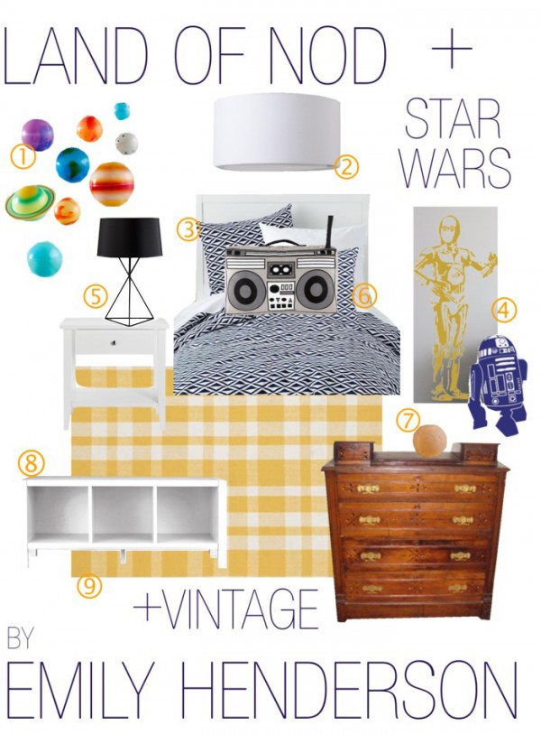 boys star wars bedroom
