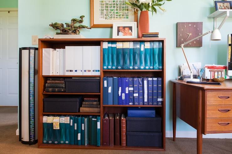 organized-bookcase