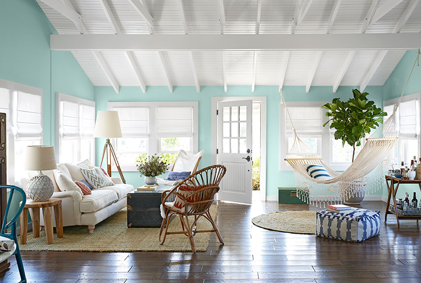 bright airy living room