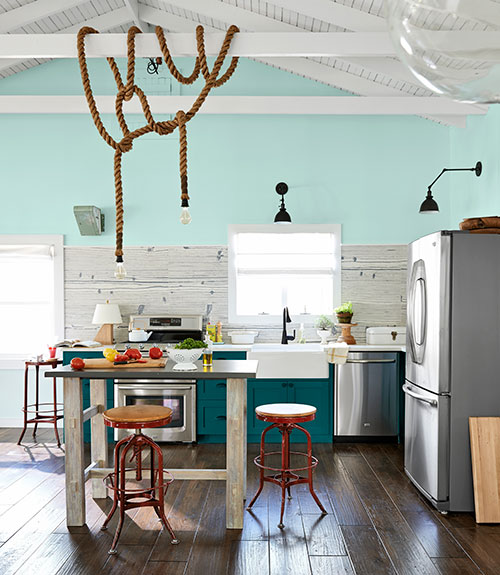 teal cabinetry