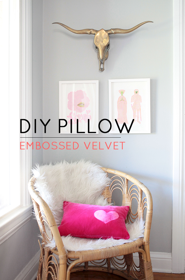 DIY Embossed Pillow