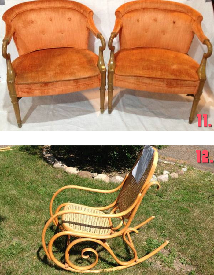 Minneapolis Craigslist vintage chairs and rocker