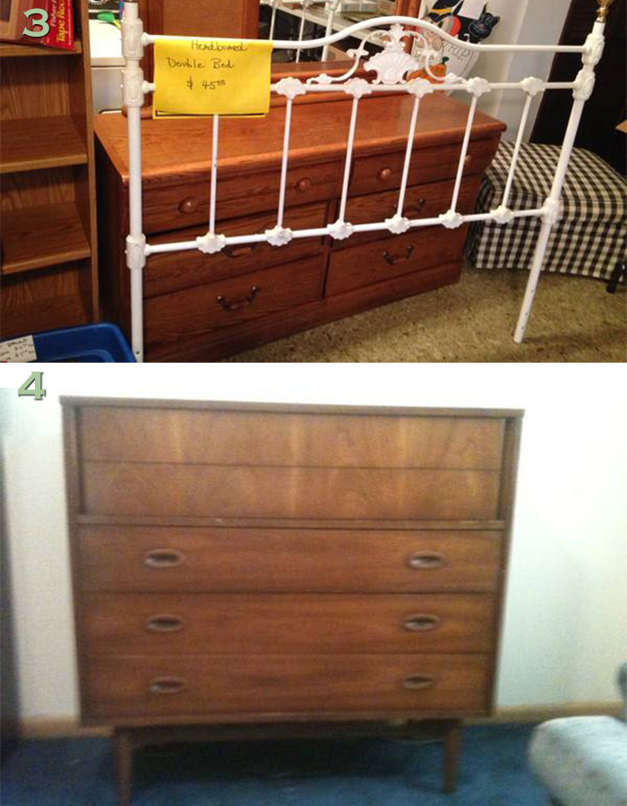 NOLA craigslist iron bed and mcm dresser