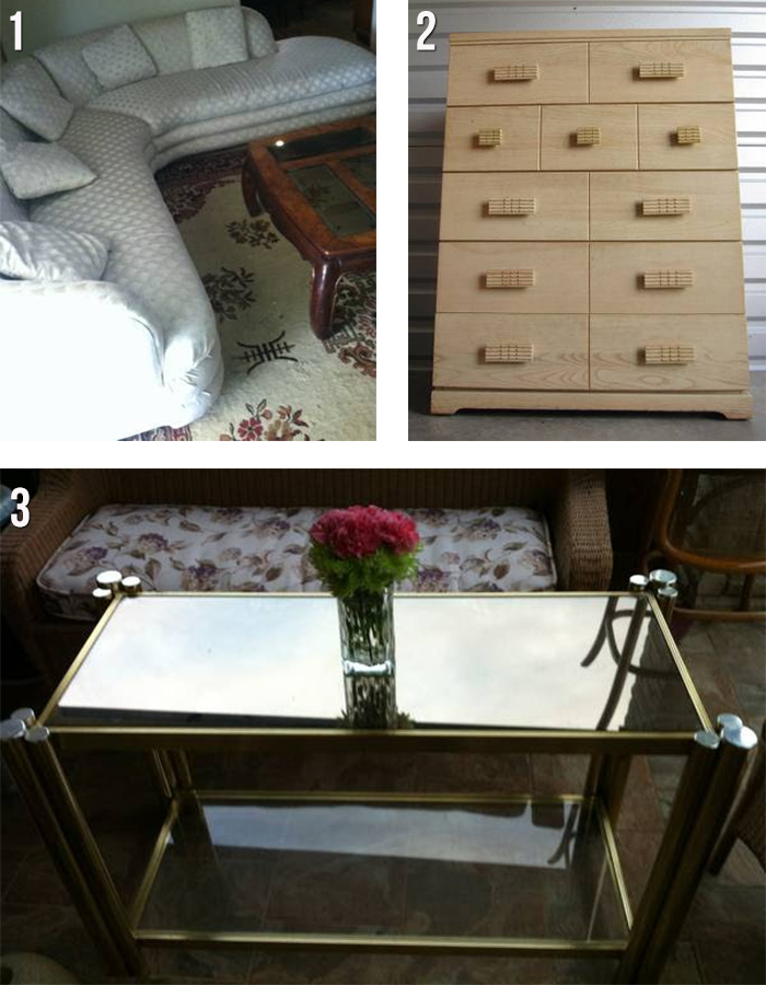 houston sectional vintage dresser brass table