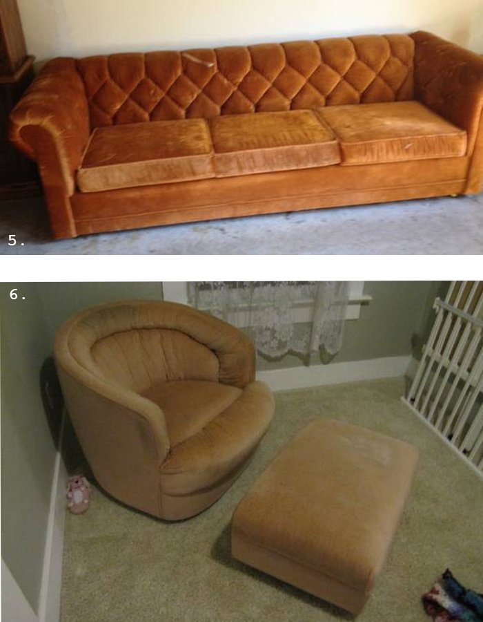trolling Criagslist portland vintage sofa and chair