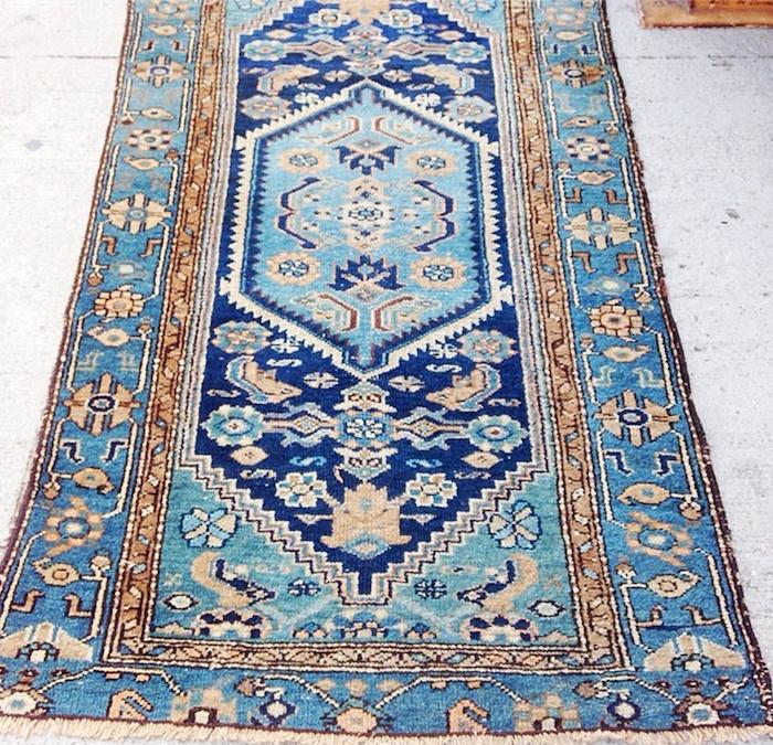teal persian rug