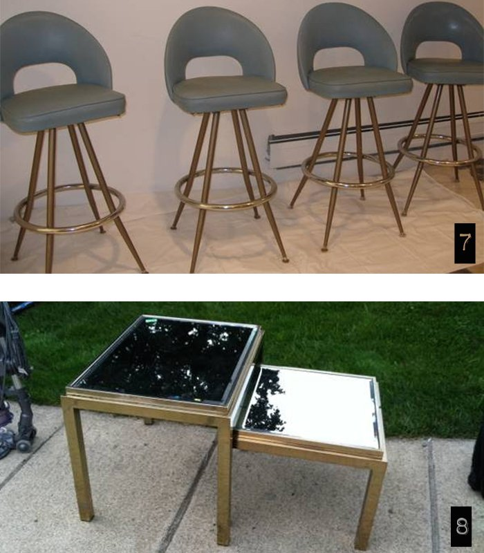 Trolling CL detroit vintage barstools and side tables