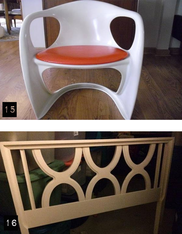 Trolling Cl  vintage chairs and twin bed