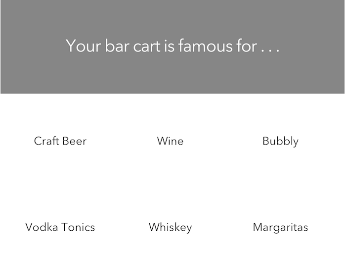 drink options