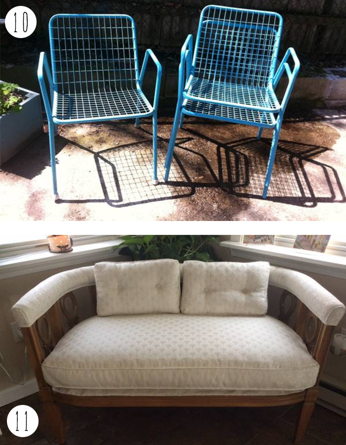 Trolling CL providence settee and patio chairs
