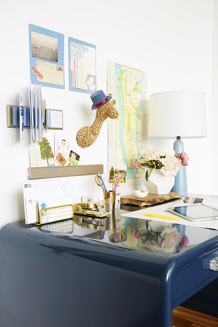 blue lacquer desk