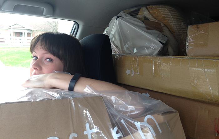 ginny in car