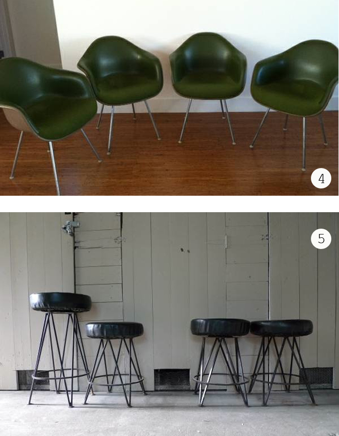 Indy CL Set fo Eames Shell chairs