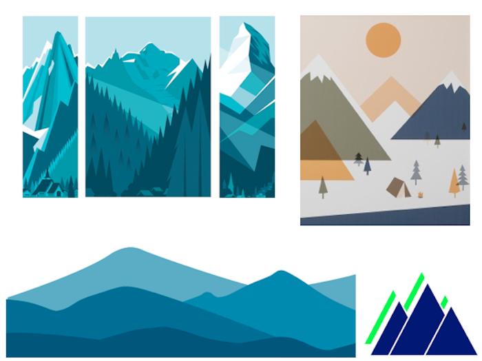 mountain motif