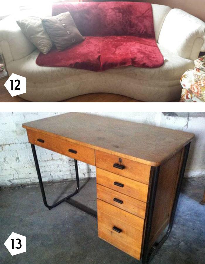 Deco sofa vintage desk