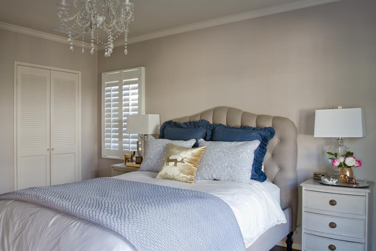 Emily Henderson Bedroom Tufted Headboard