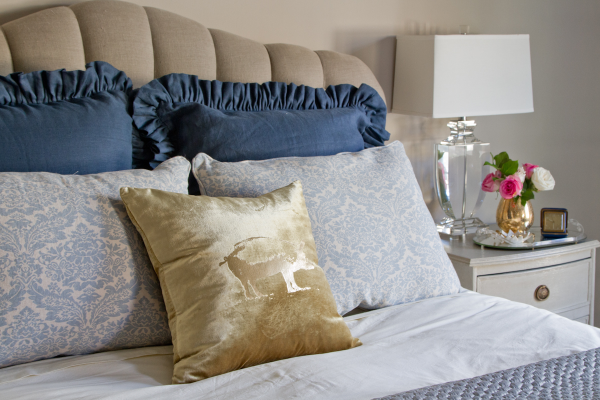 Emily Henderson Tufted Headboard Traditional
