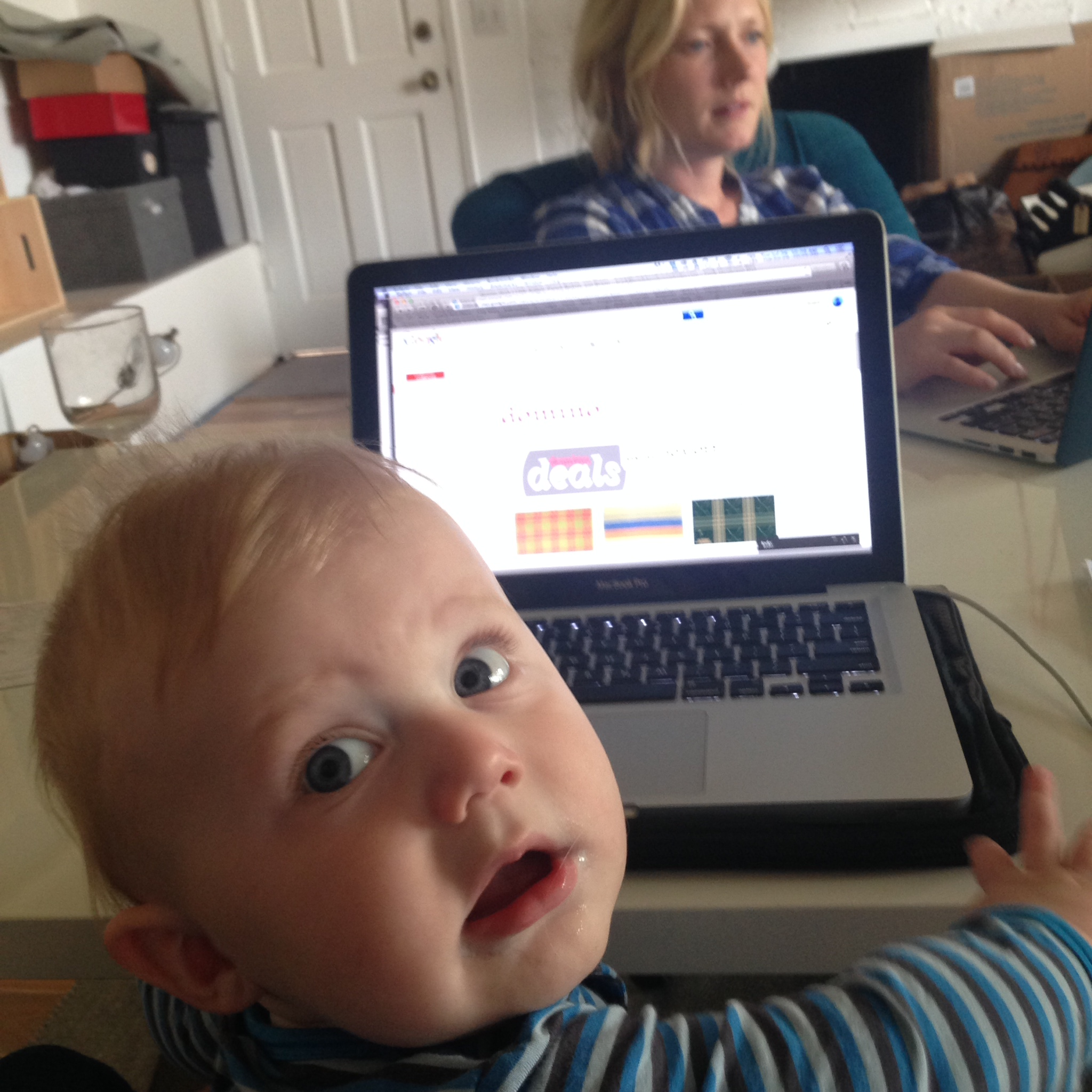 charlie at computer