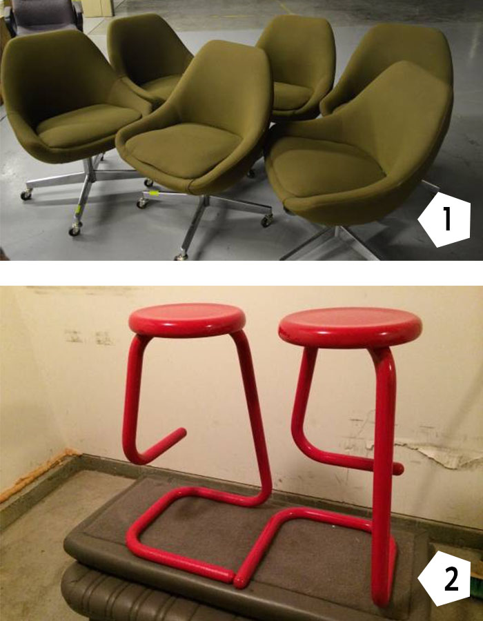 Vintage Office chairs and stools