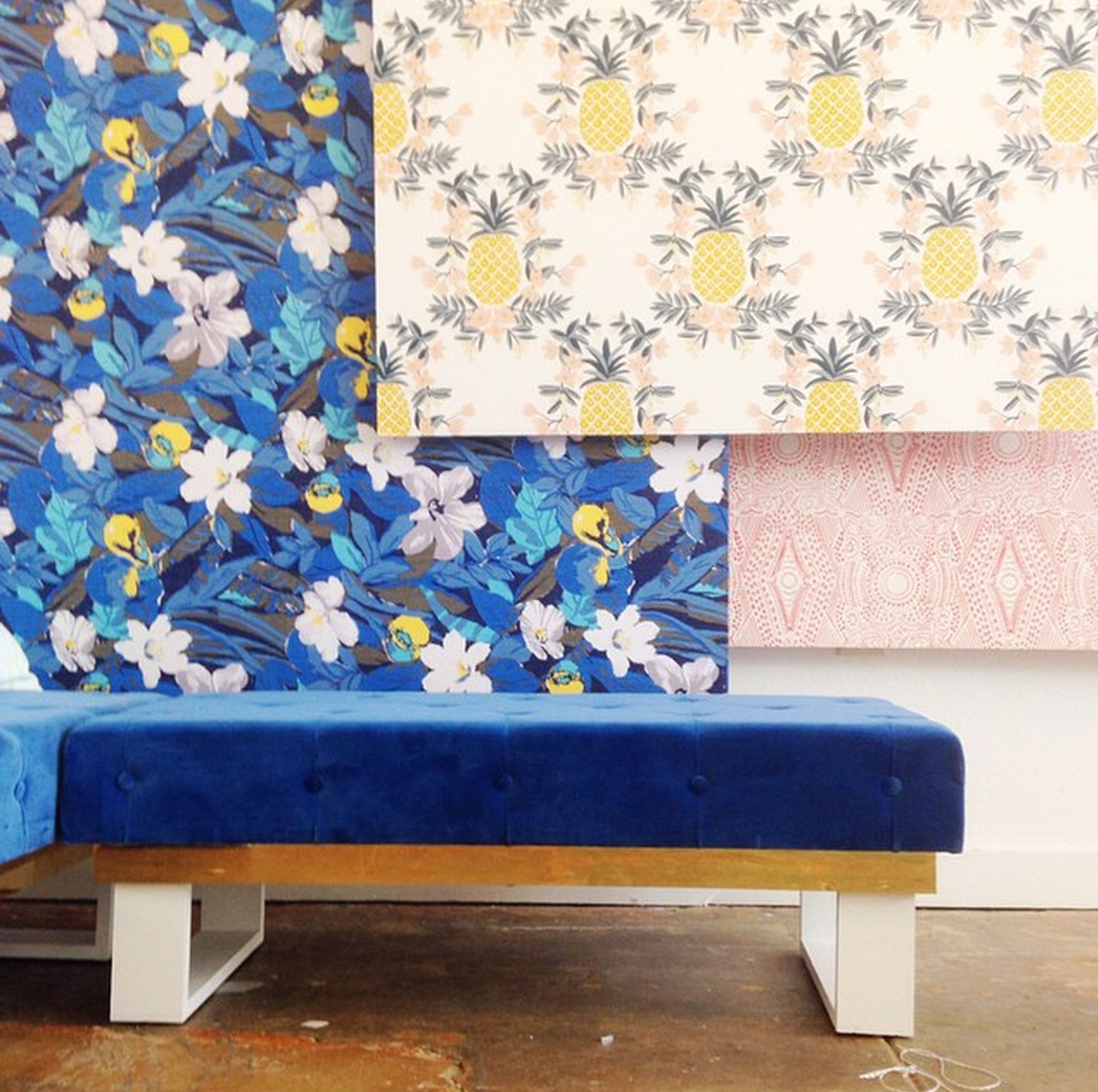 cobalt blue bench