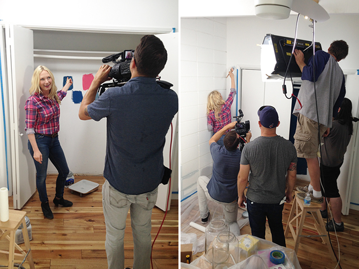 dutchboy filming painting closet