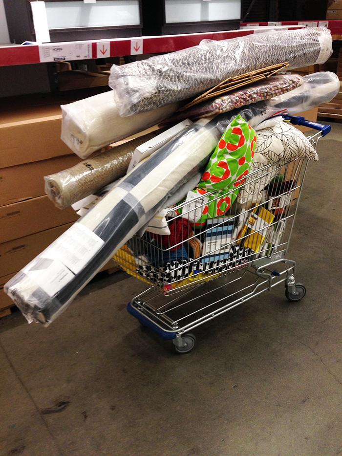 ikea shopping cart